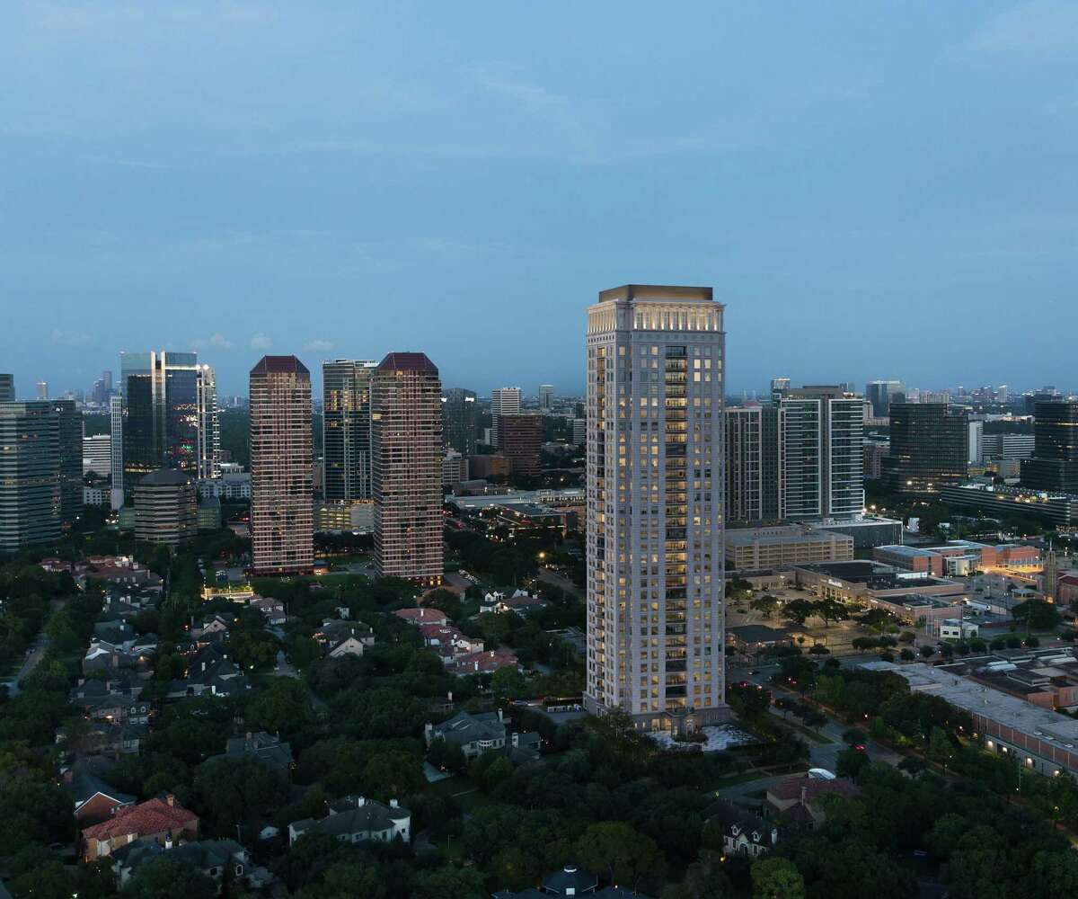 Tanglewood Corp. plans a modern residential condo tower at 1661 Tanglewood in the Galleria area. The 33-story building was designed by Jackson & Ryan Architects.