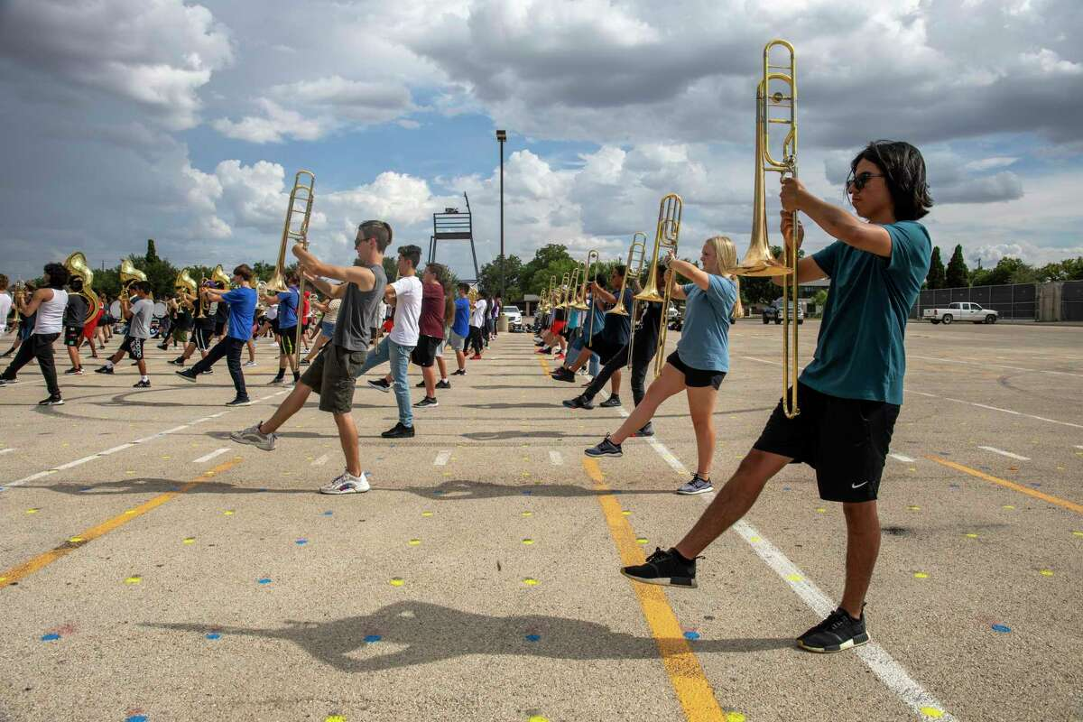 Scenes from Midland High's marching band practice Wednesday, Aug. 11, 2021 at Midland High School. Jacy Lewis/Reporter-Telegram