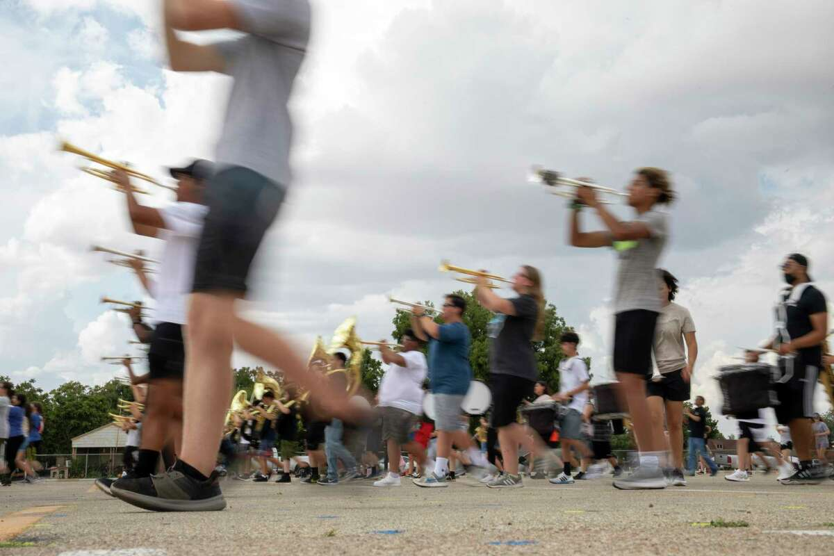 Scenes from Midland High???s marching band practice Wednesday, Aug. 11, 2021 at Midland High School. Jacy Lewis/Reporter-Telegram