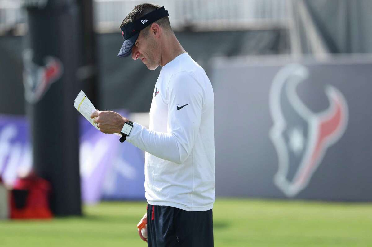 First-year general manager Nick Caserio has been a ubiquitous presence at Texans training camp.