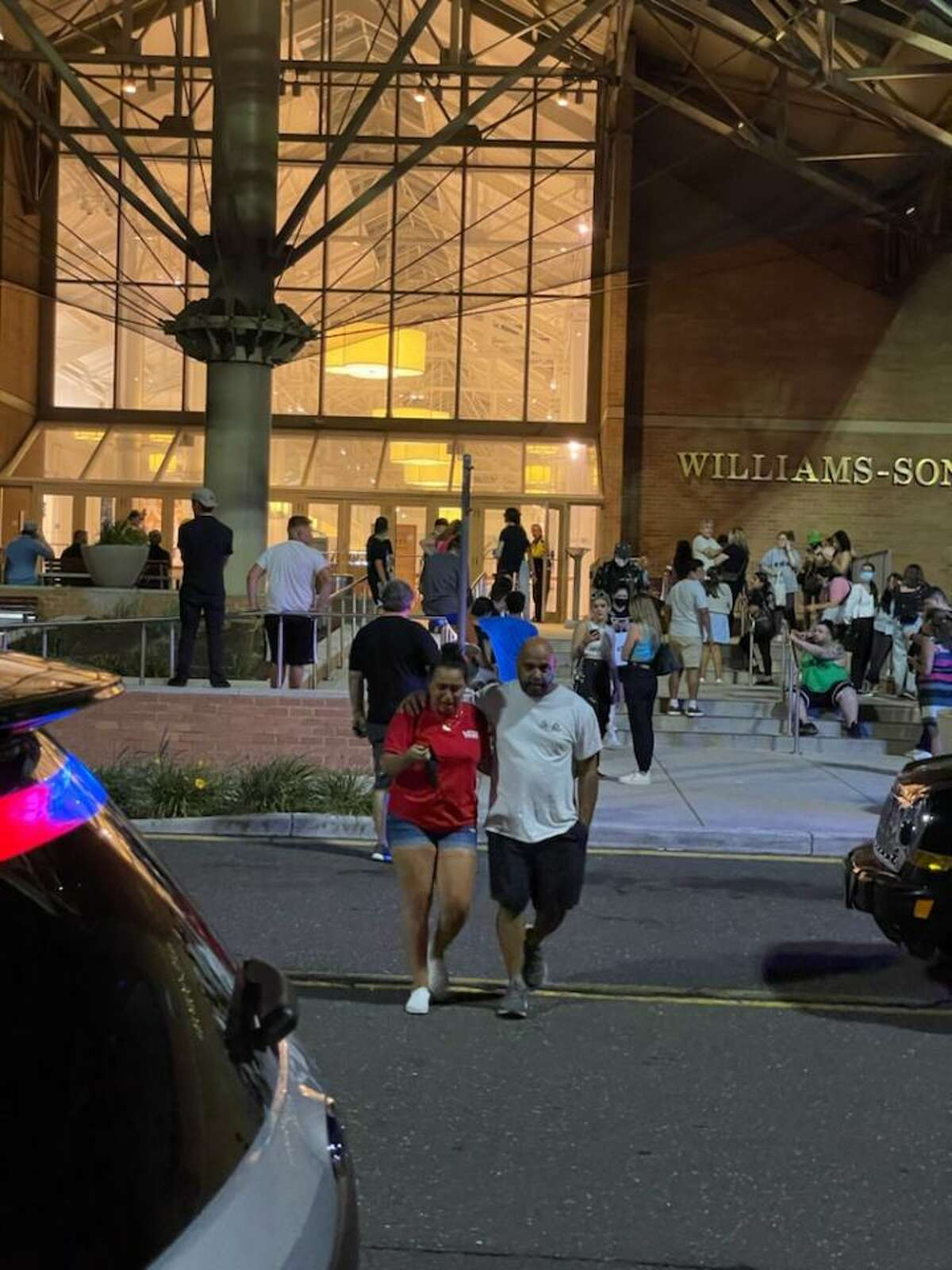 Police said a teenage girl was shot Wednesday night at the Danbury Fair mall. The suspect was still at large.