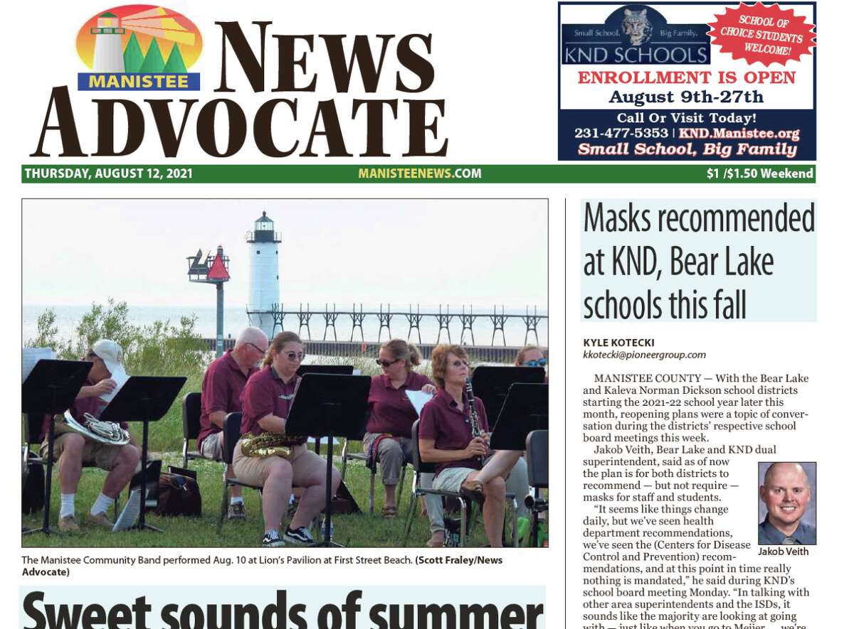 Because of a power outage at our printing facility in Big Rapids, there will be no printed edition of the Manistee News Advocate for Thursday, Aug. 12.