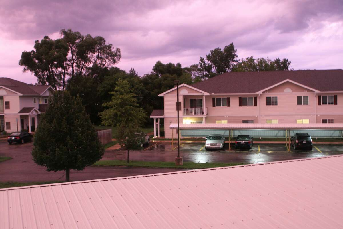 On Wednesday evening just before sundown, a purple sky graced residents of Reed City with a haunting prescense.