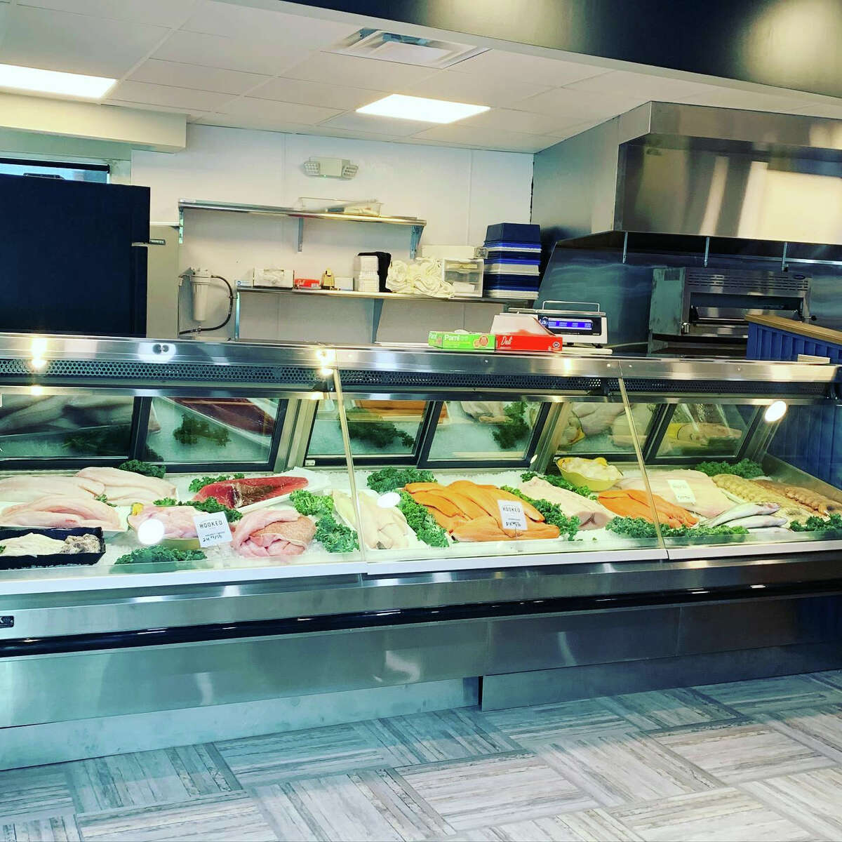 Hooked Market & Kitchen in Latham is now open for retail sales and lunch service. The address is 1177 Troy-Schenectady Road, the former Ario's Pizza, about a third of a mile from the original location in Galleria 7.
