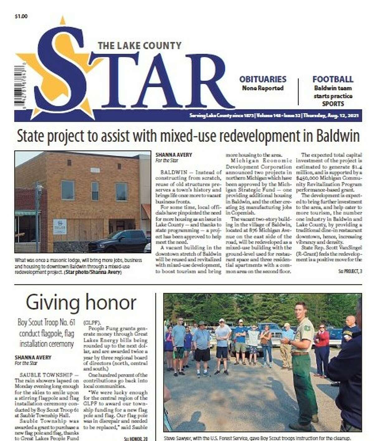 Because of a power outage at our printing facility in Big Rapids, there will be no printed edition of this week's Lake County Star, Thursday, Aug. 12. An e-Edition is available.