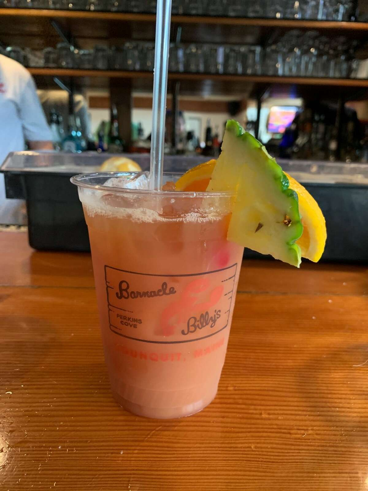 The famous (and dangerous) rum punch at Barnacle Billy's in Ogunquit.