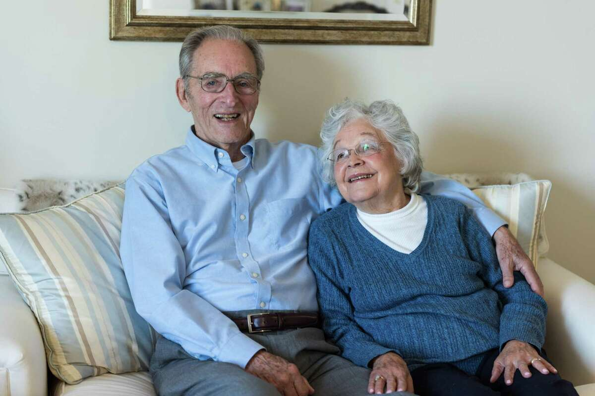 Longtime Wesley Village senior living campus in Shelton residents Ken, and Doris Steeves, recently celebrated their 70th wedding anniversary on Tuesday, July 14. Ken, and Doris Steeves have lived at the campus for over four years. They are pictured here in their apartment at Crosby Commons a few years ago. The building is a senior living building that is located on the campus.