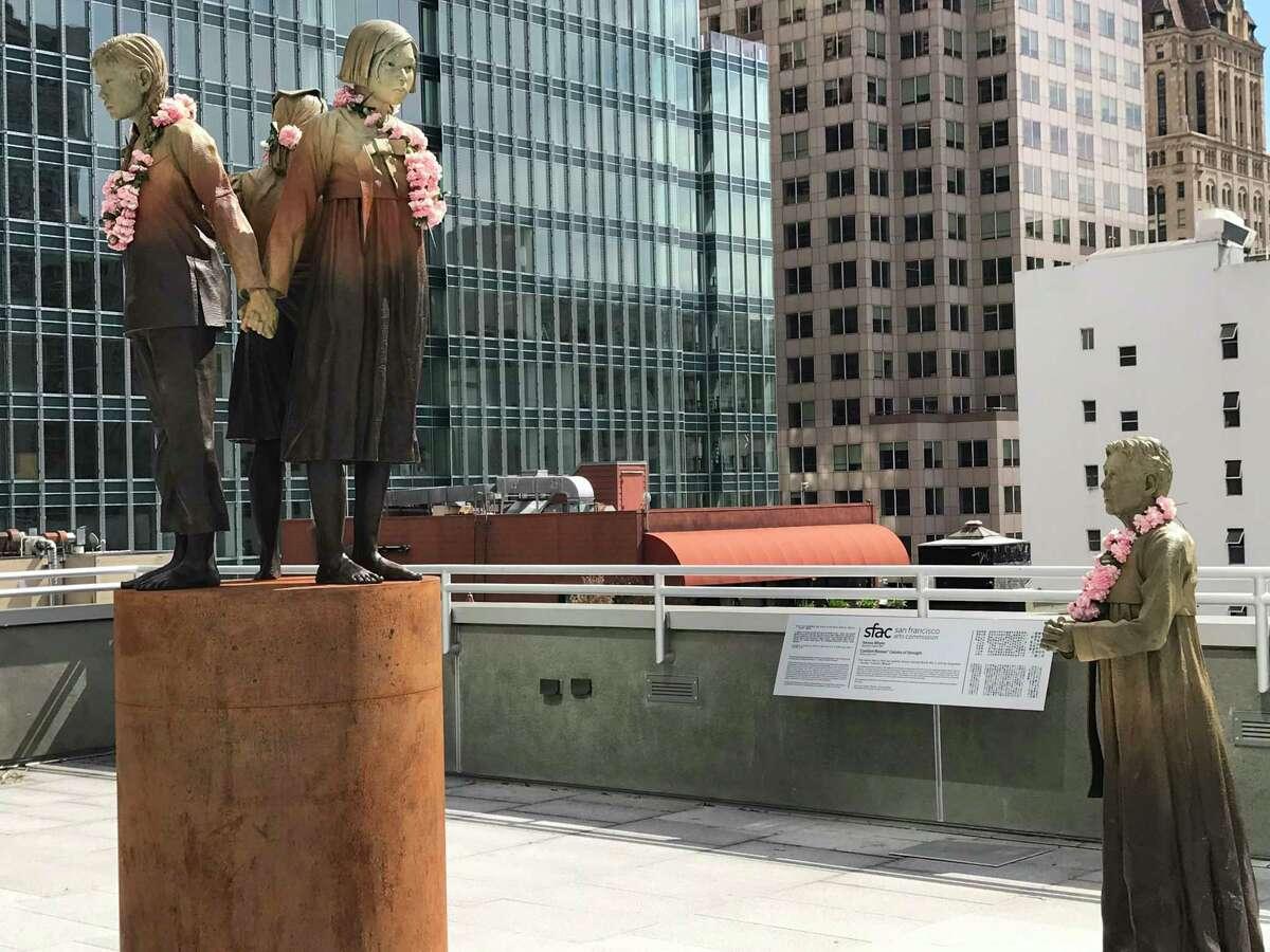 """The """"comfort women"""" memorial in San Francisco."""