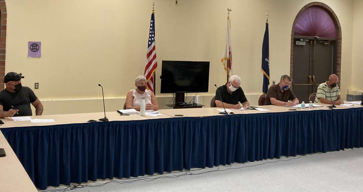 The Mechanicville City Council voted Wednesday to add a second heavy equipment operator and next year consider buying the equipment that person could run.From left: Anthony Gotti, Barbara McGuire, Mayor Dennis Baker, Mark Seber and Keith Johnson.
