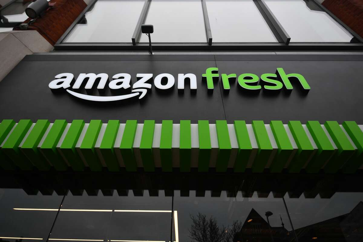 FILE -- The Amazon Fresh grocery store in Ealing, west London, which is the first in Europe. Picture date: Thursday March 4, 2021. (Photo by Victoria Jones/PA Images via Getty Images)