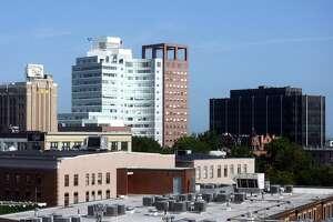 Skyline views of downtown Bridgeport, Conn., Aug. 12, 2021.