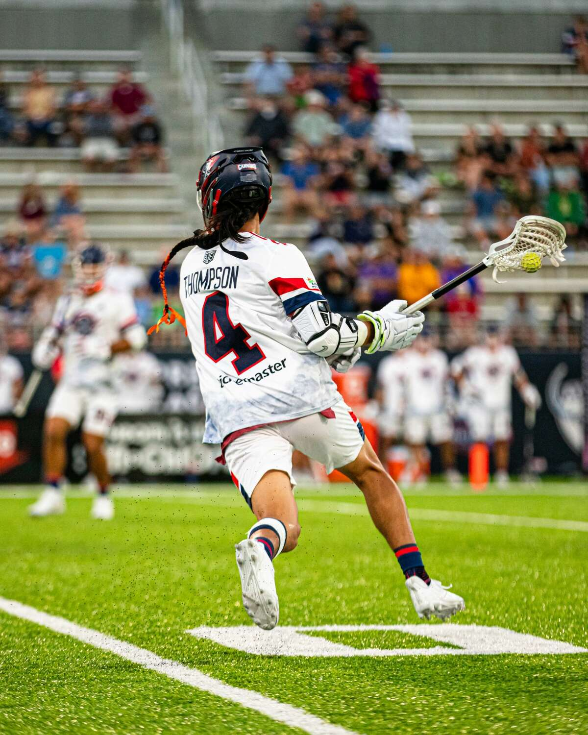 Former UAlbany star Lyle Thompson is one of the attractions at this weekend's Premier Lacrosse League event at Casey Stadium. Friday and Saturday's matches are almost sold out, according to league CEO and co-founder Mike Rabil. (Premier Lacrosse League)