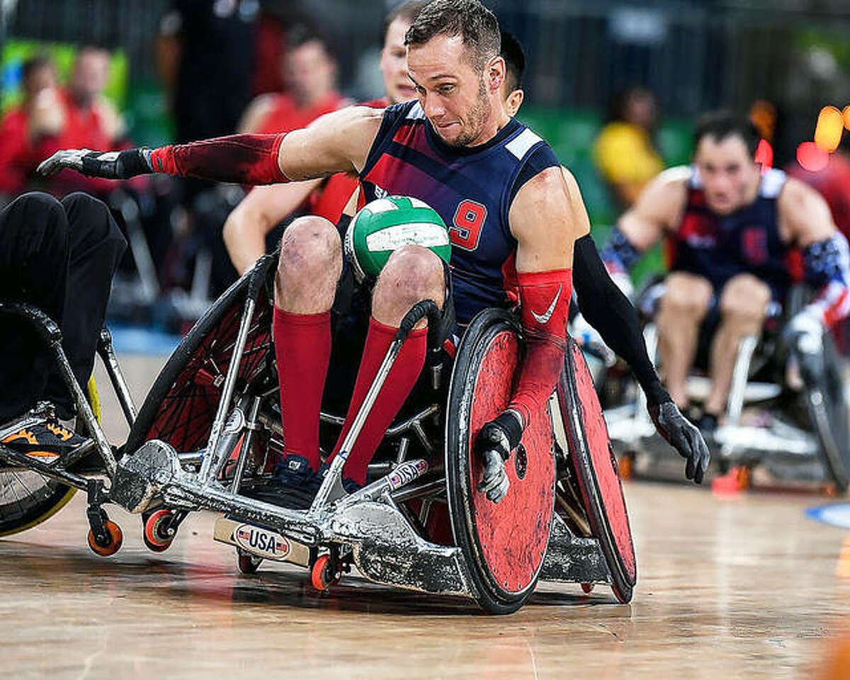 Eric Newby of Godfrey will play in his second Paralympic Games later this month in Tokyo with his teammates on the U.S. wheelchair rugby team. At the 2016 Paralympics in Rio de Janerio, Newby and the U.S. captured the silver medal.
