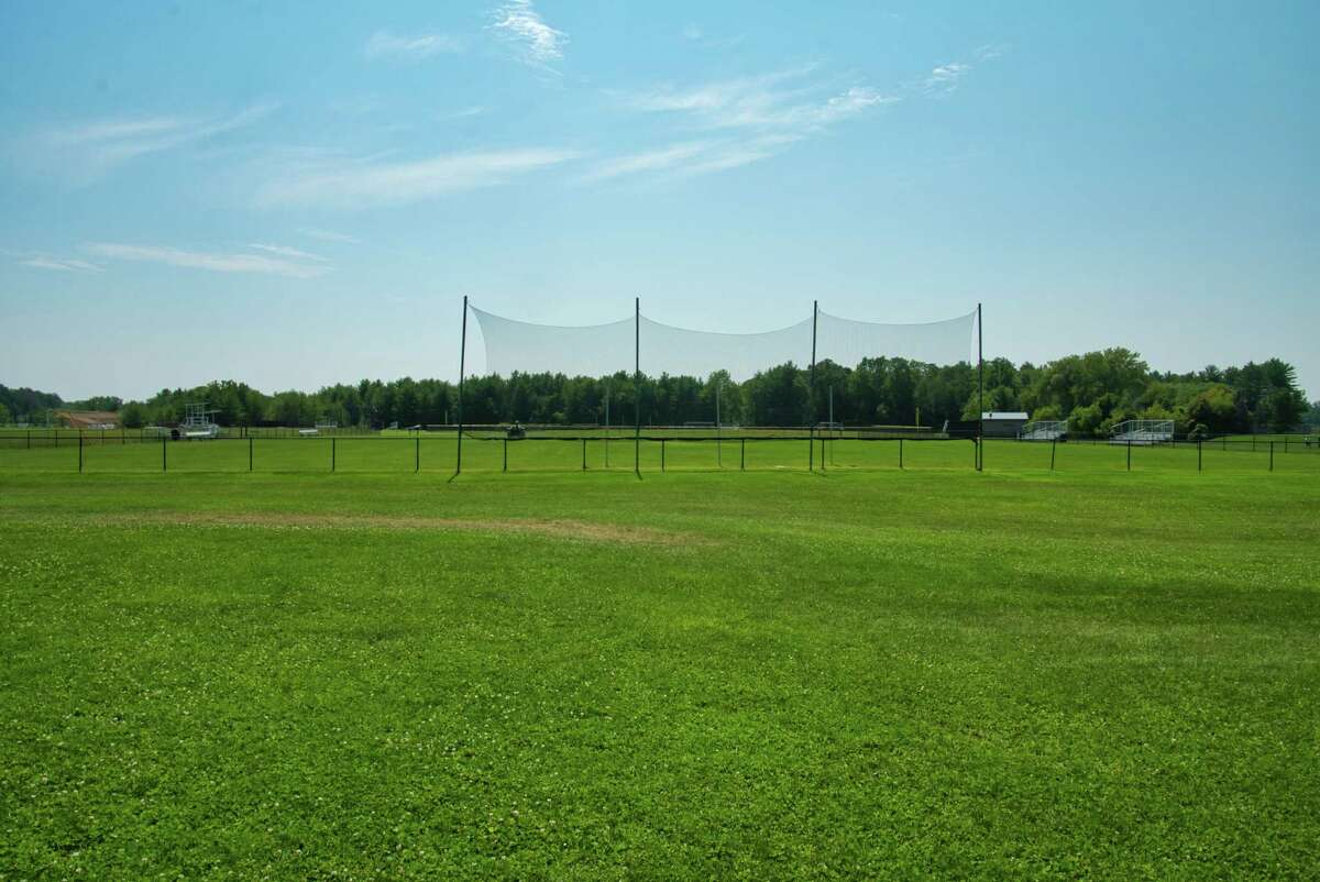 A view of a sport's field at Bethlehem High School on Thursday, Aug. 12, 2021, in Bethlehem, N.Y. There is a proposal to make this an artificial turf field.