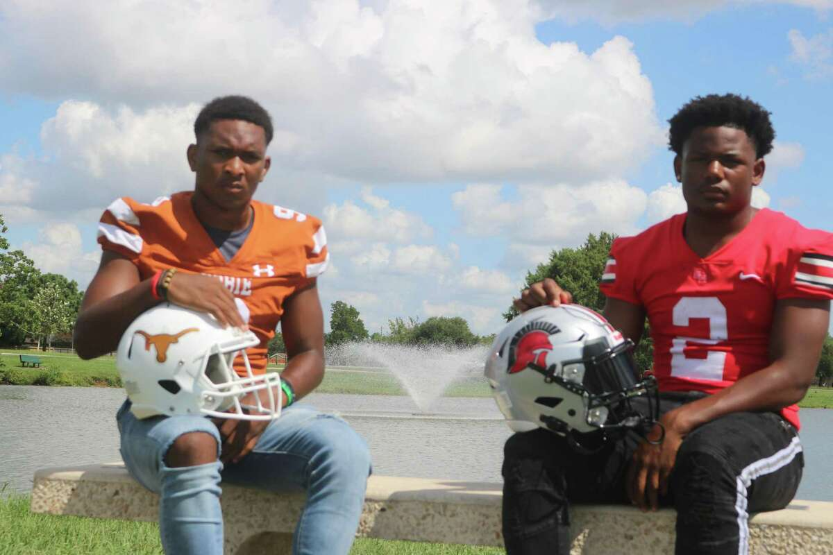 Dobie quarterback Cameron Gray, left, who is the reigning District 22-6A offensive most valuable player, and South Houston quarterback Kam'ron Webb, named last season's newcomer of the year, are set to show their stuff again this season.