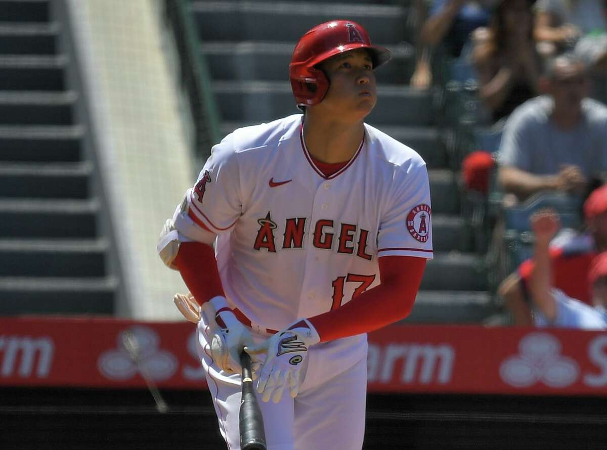 Angels star Shohei Ohtani leads the majors with 38 home runs and a .655 slugging percentage.