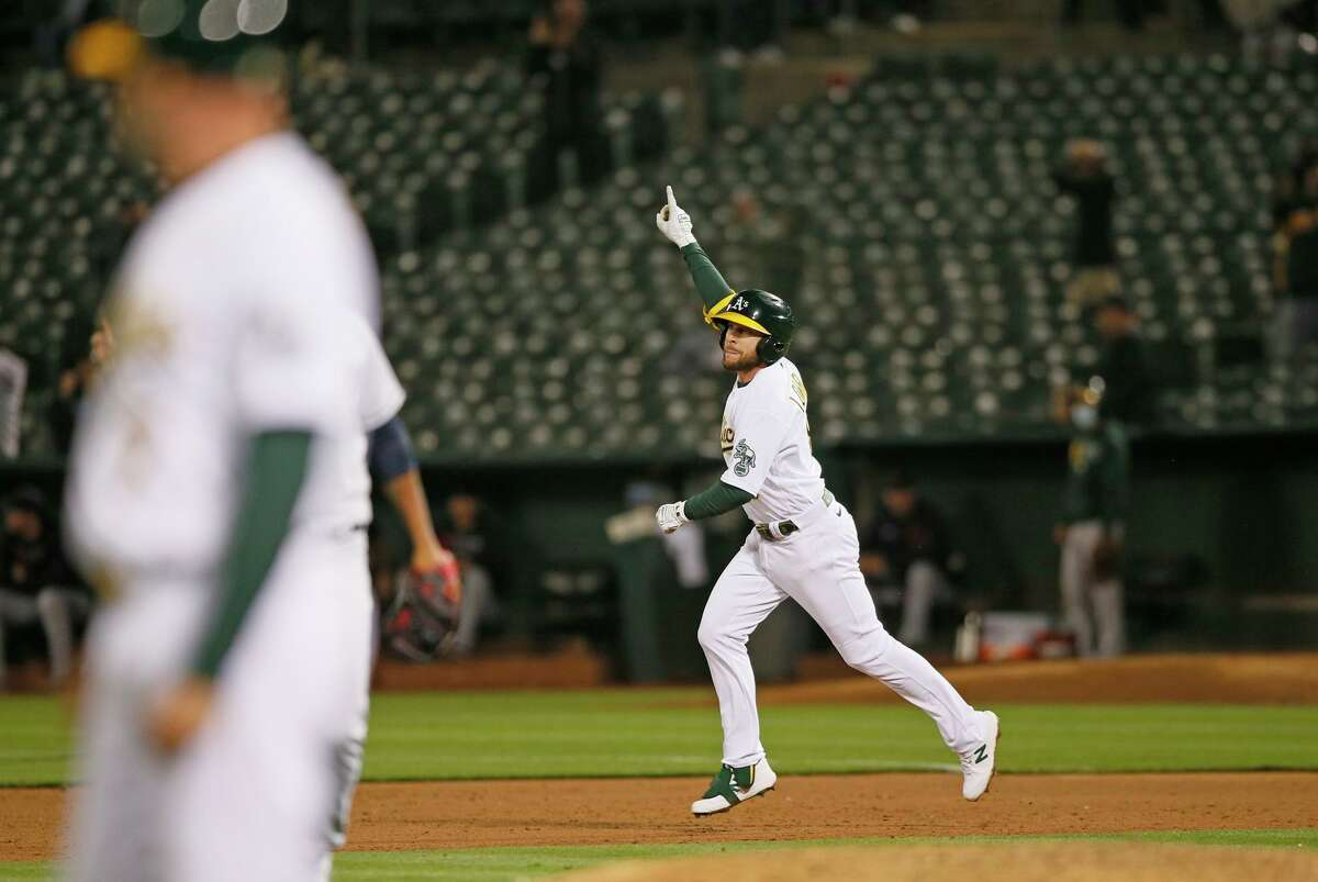 Jed Lowrie is hitting .376 with runners in scoring position, the highest mark among qualified AL hitters this season.