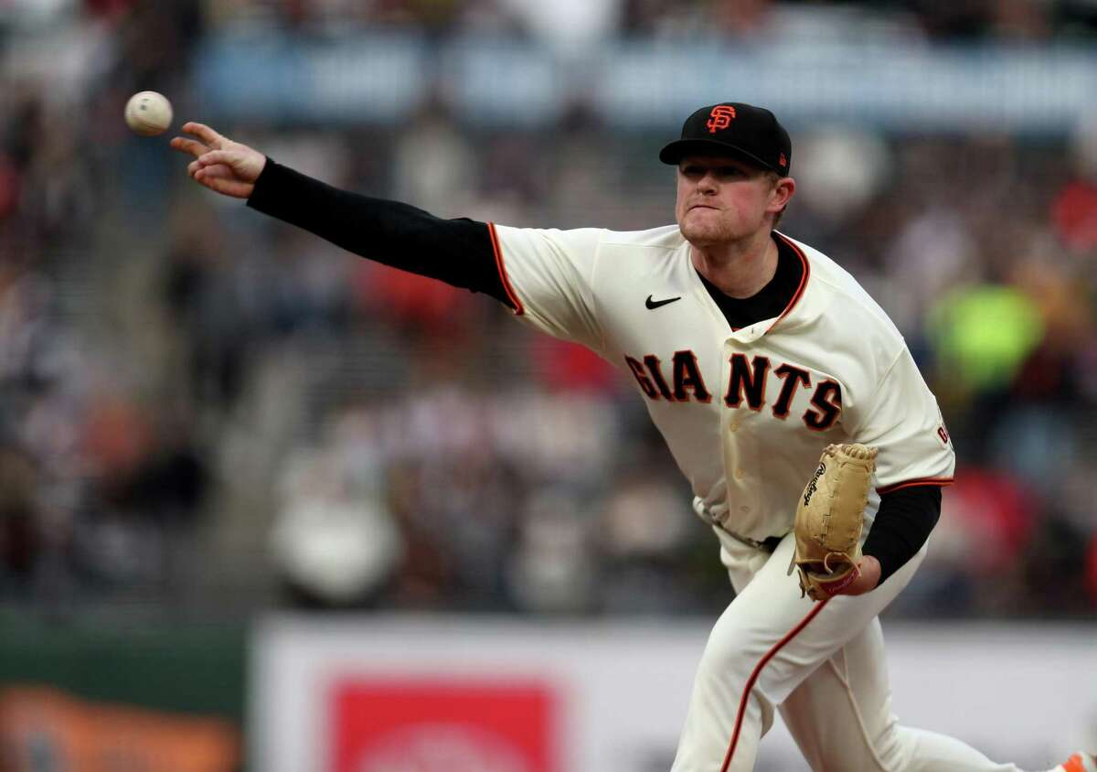 SAN FRANCISCO, CA - AUGUST 12: Logan Webb #62 of the San Francisco Giants pitches against the Colorado Rockies at Oracle Park on August 12, 2021 in San Francisco, California. (Photo by Jed Jacobsohn/Getty Images)