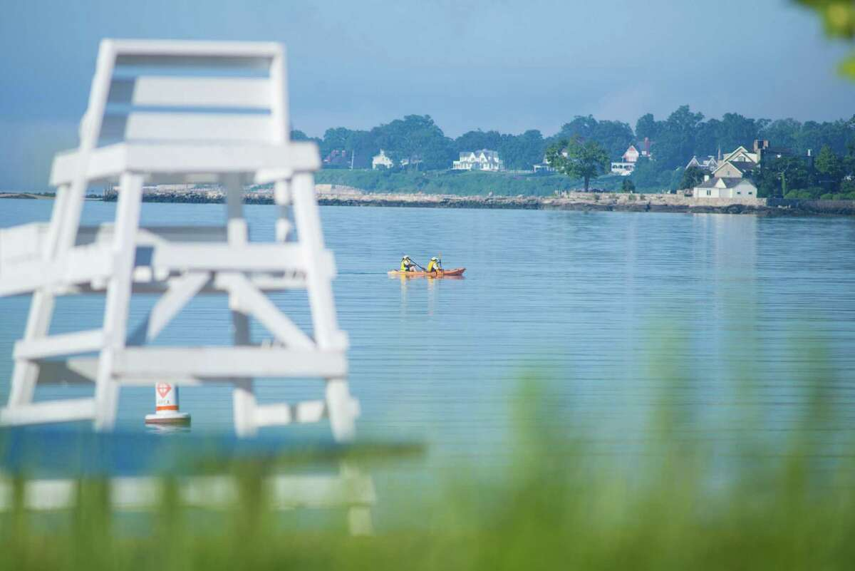 A view of Long Island Sound from Darien.