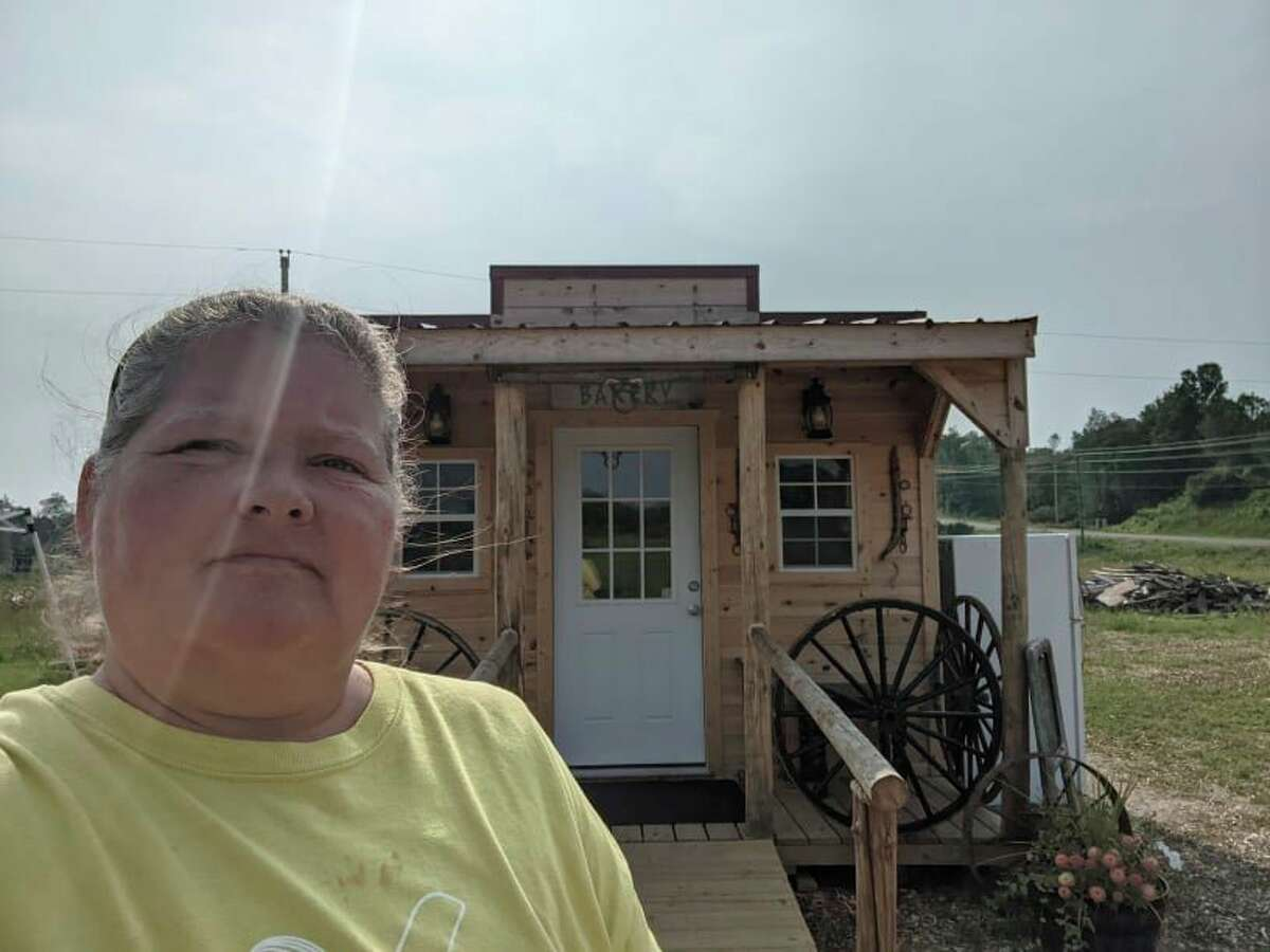 Renee Earle works and bakes many of the specialty items like bread and cookies that are available in the Pineview Farm Bake Shop, and makes the gourmet popcorn with the help of her daughter. (Courtesy/Renee Earle)