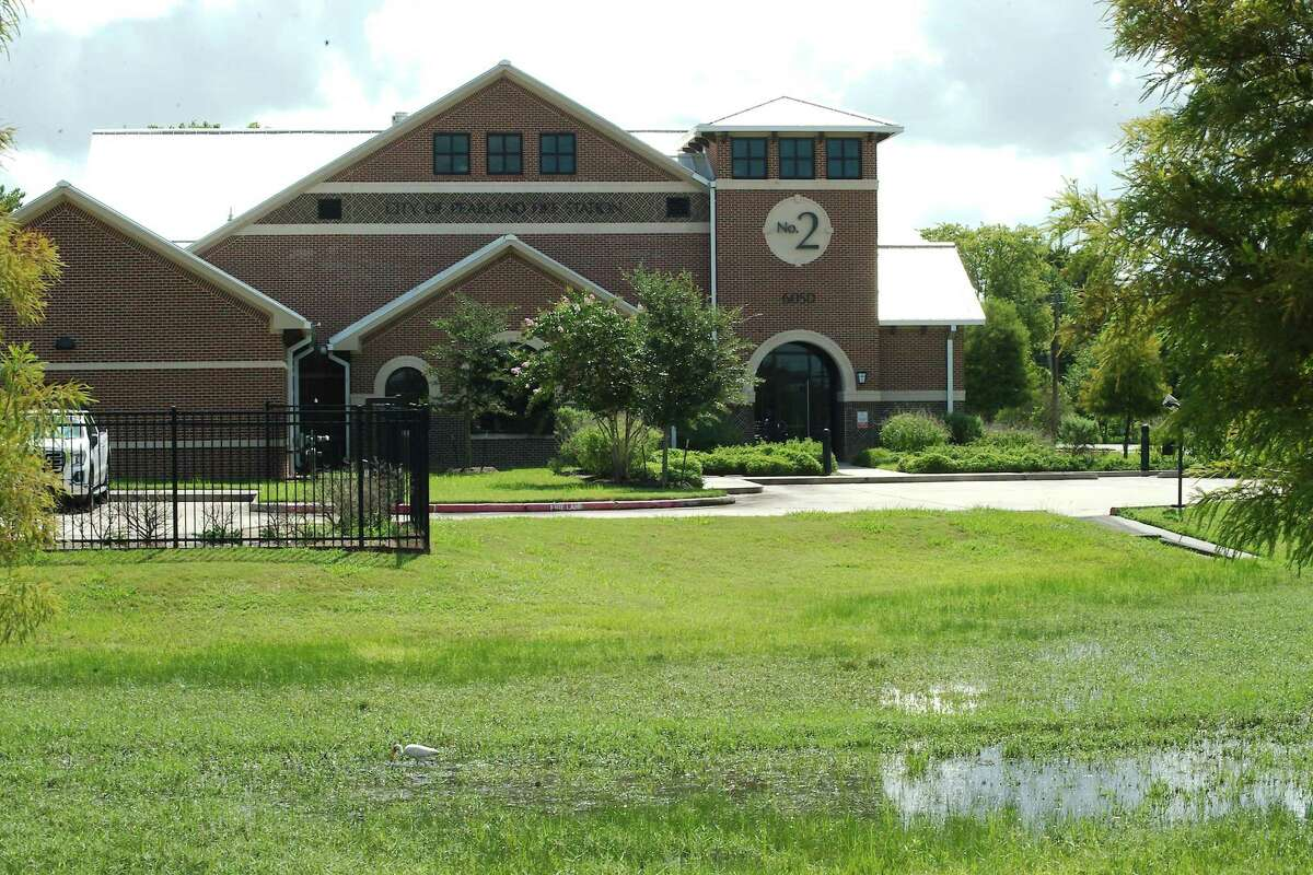 Pearland City Manager Clay Pearson believes the city's Fire Station No. 2 is having issues with its driveways, walkways and bathroom plumbing because of soil shifting due to water seeping from a nearby detention pond.