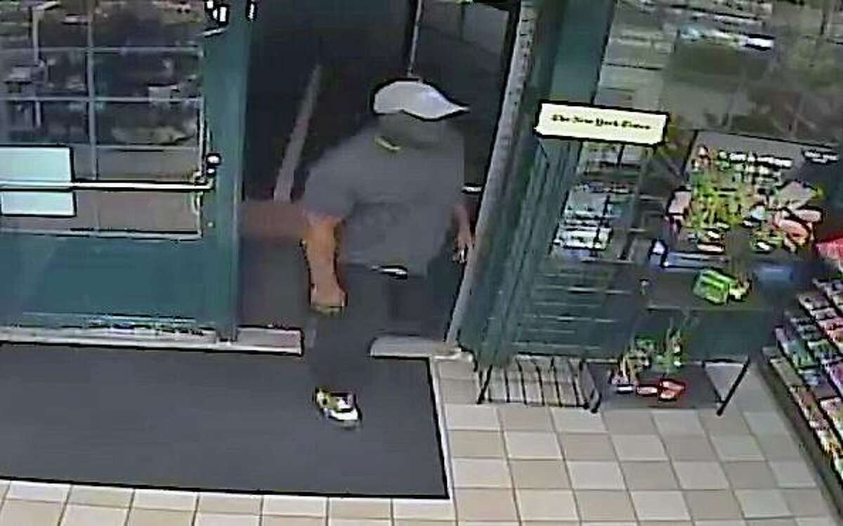 The man who state police say restrained and assaulted a store clerk in Tolland, Conn., this week.