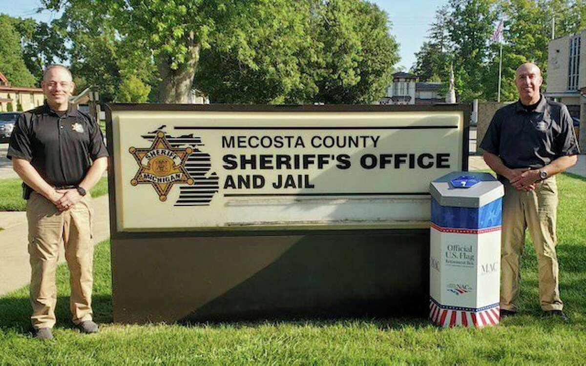 A new flag retirement box was recently installed at the Mecosta County Sheriff's Office. (Courtesy photo)
