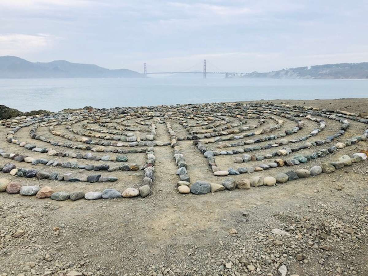 The last rebuild of the Lands End labyrinth.