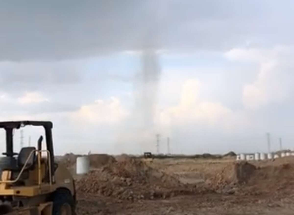 A small tornado formed near State Highway 99 and West Road just south of Bridgeland High School.