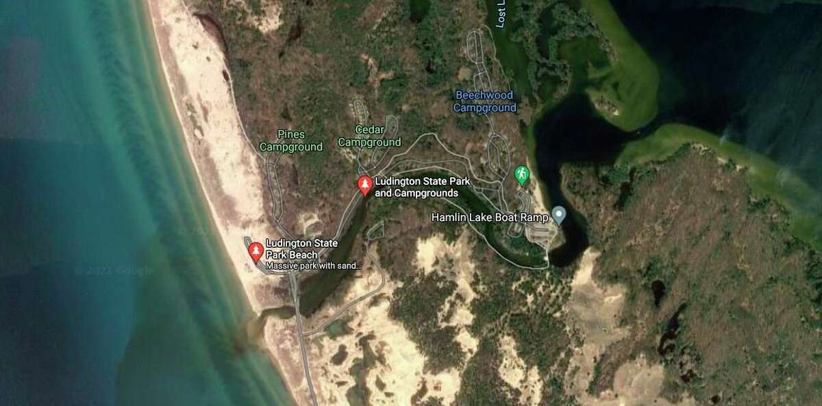 An investigation has been opened into the death of a 16-year-old West Michigan resident, who was found unresponsive at the Pines Campground in Mason County. (Courtesy Map/Google)