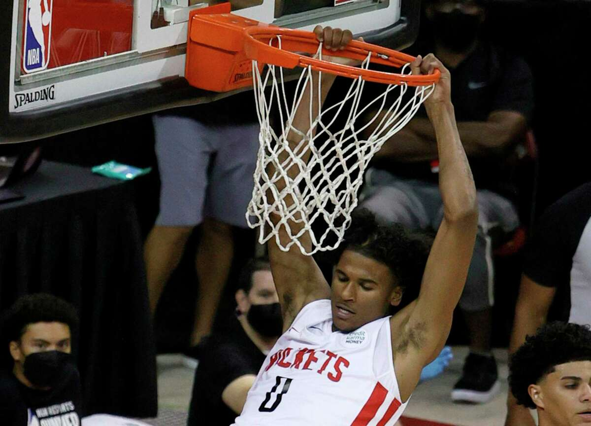 Before a sore hamstring - nothing serious - ended his summer league stint at 2½ games, Rockets rookie Jalen Green put on a show in Las Vegas.