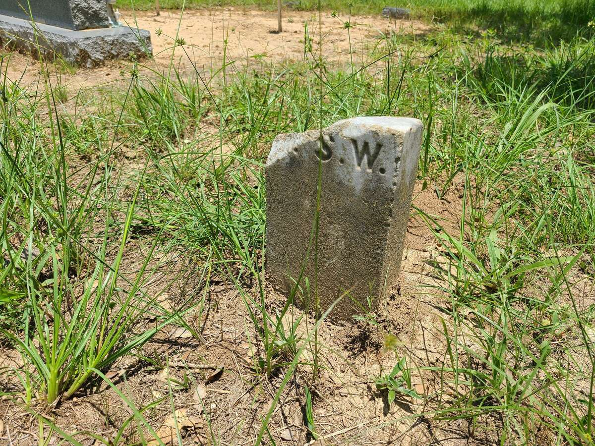 The grave marker for Alwiene S. Weise, with a death date of Feb. 11, 1905. She was only 41 when she died.