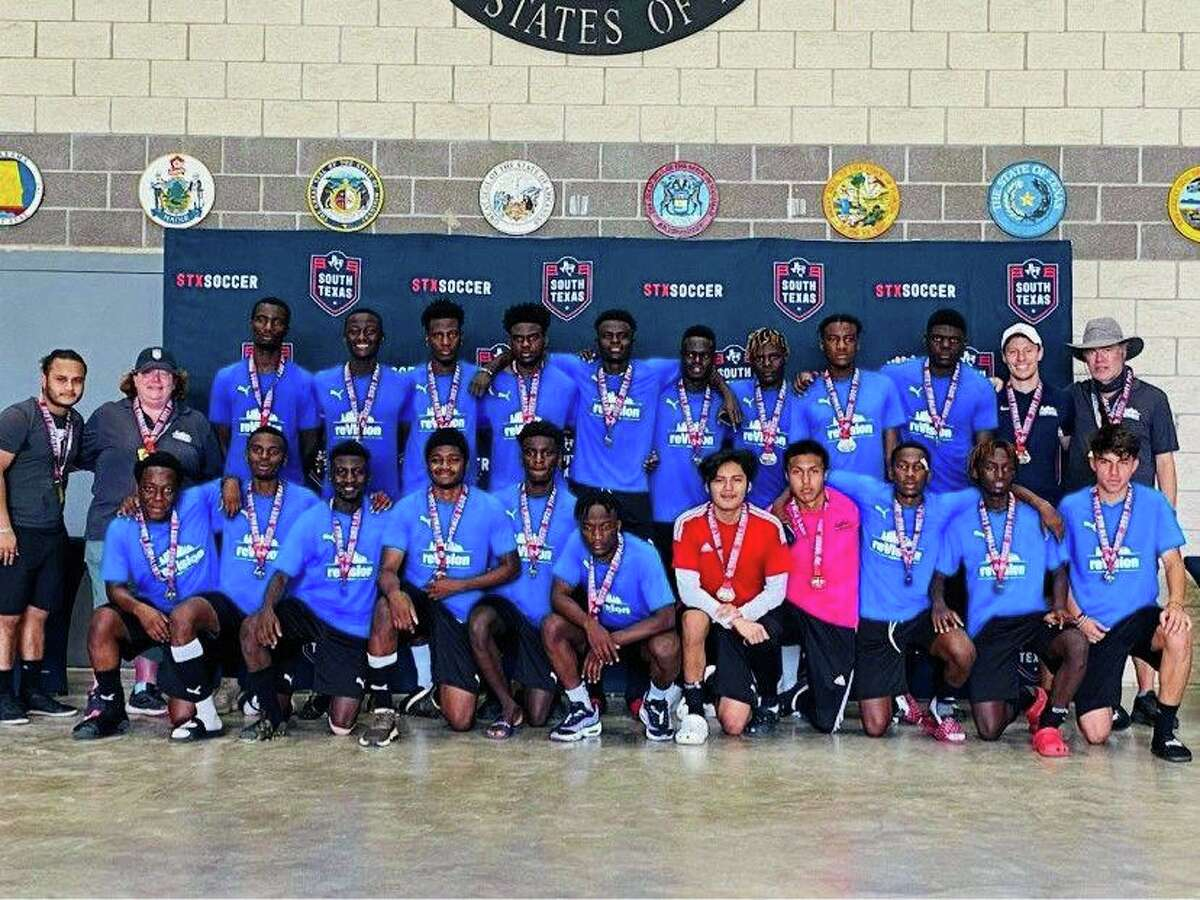 The reVision Houston FC soccer team from southwest Houston is made up of 24 players who are all both immigrants and first-generation college students.