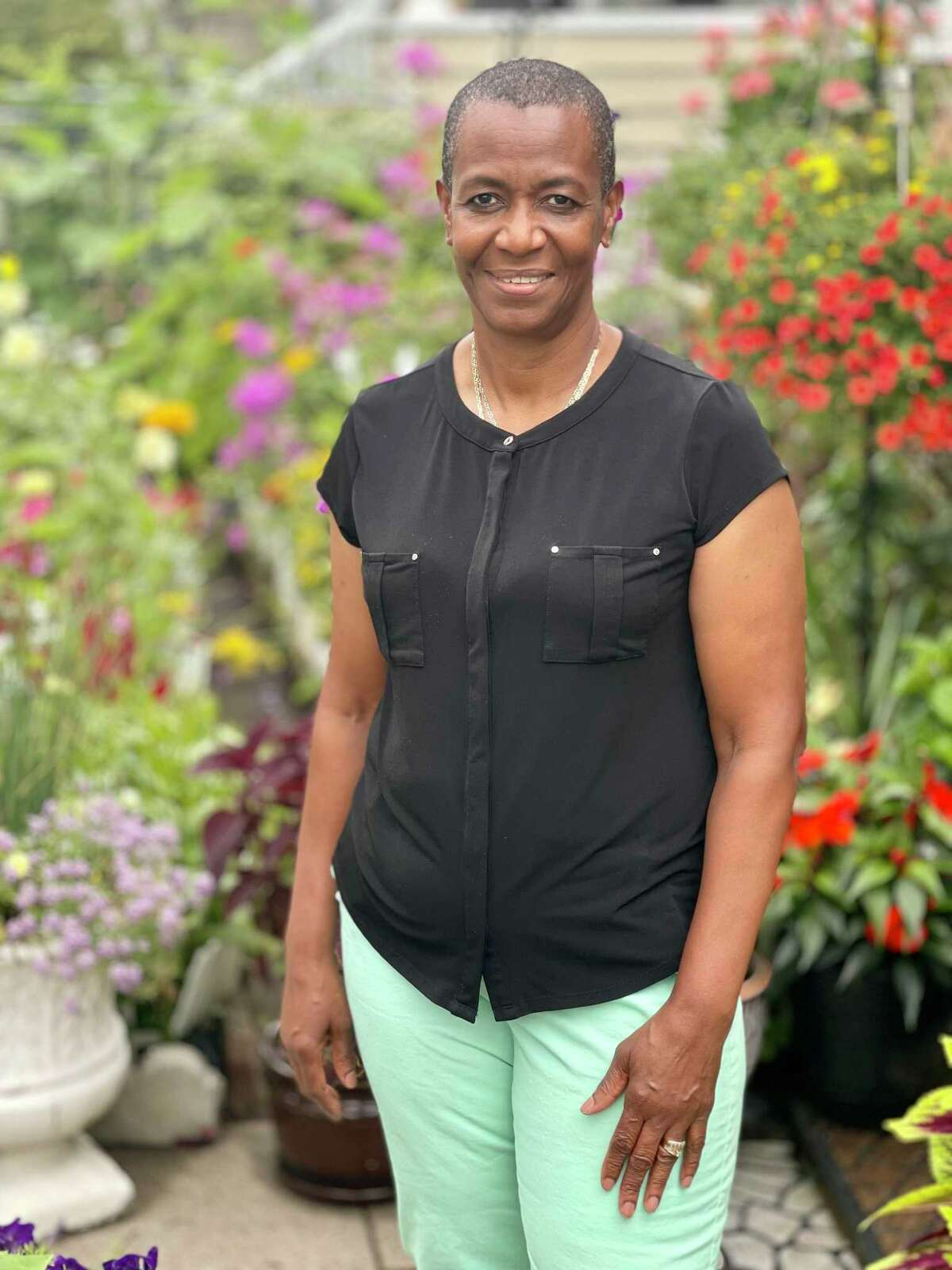 Marie Goodall-Sylvester, 62, of Bridgeport received her first dose of the Pfizer-BioNTech on Aug. 9, 2021.