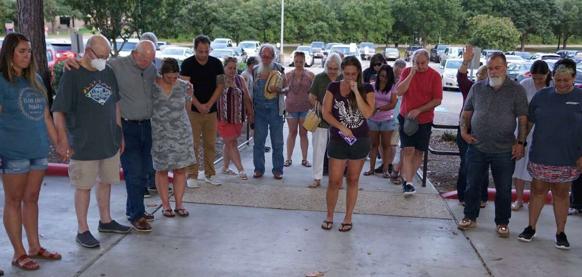 Friends, family and supporters of Tori McCreash gathered outside HCA Houston Healthcare Conroe hospital on Thursday night for a prayer circle.