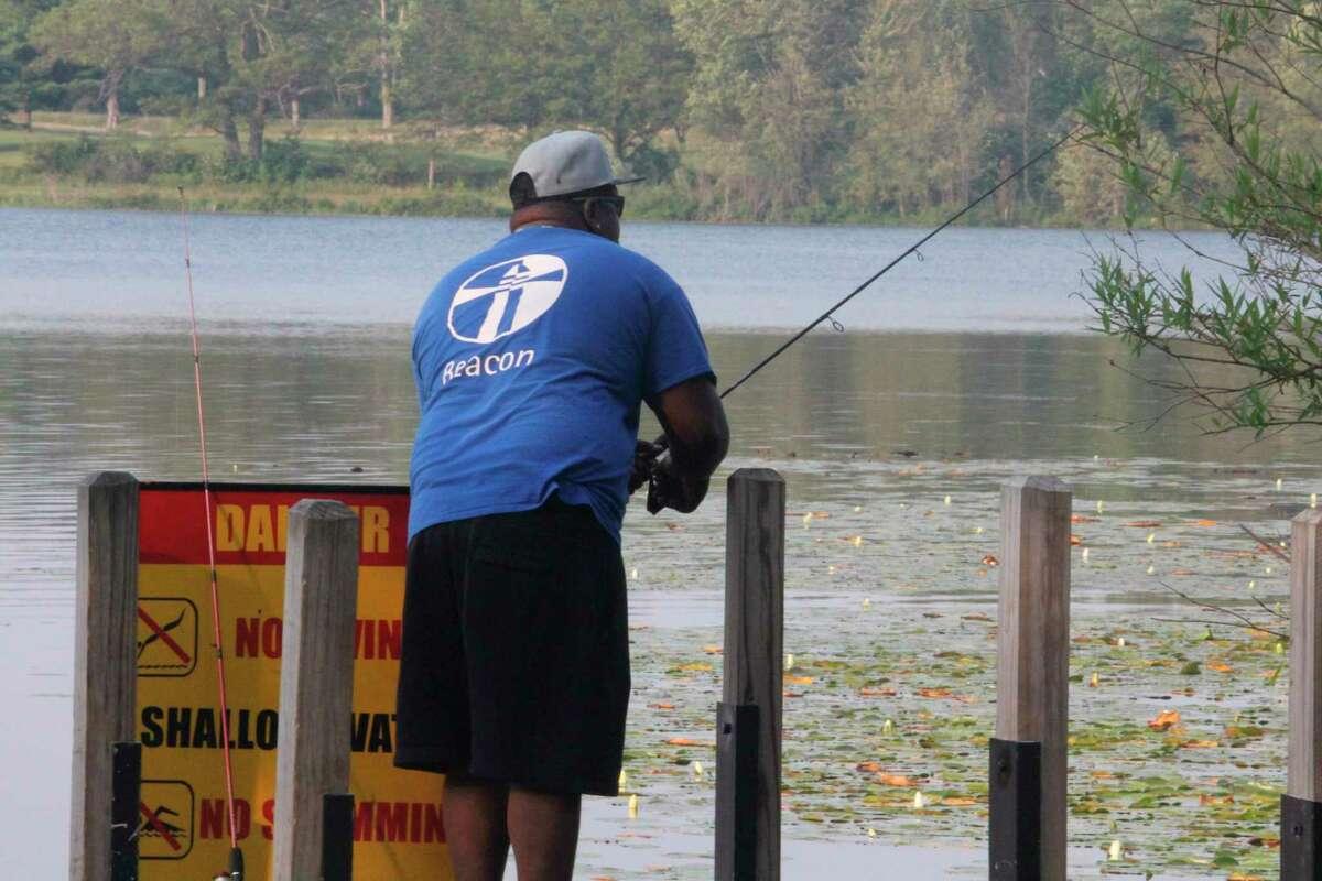 William Defor tests his fishing skills recently at Clear Lake. (Pioneer photo/John Raffel)