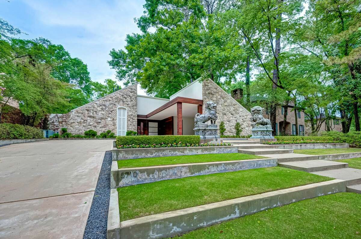 This home in Tanglewood is nestled among the trees.