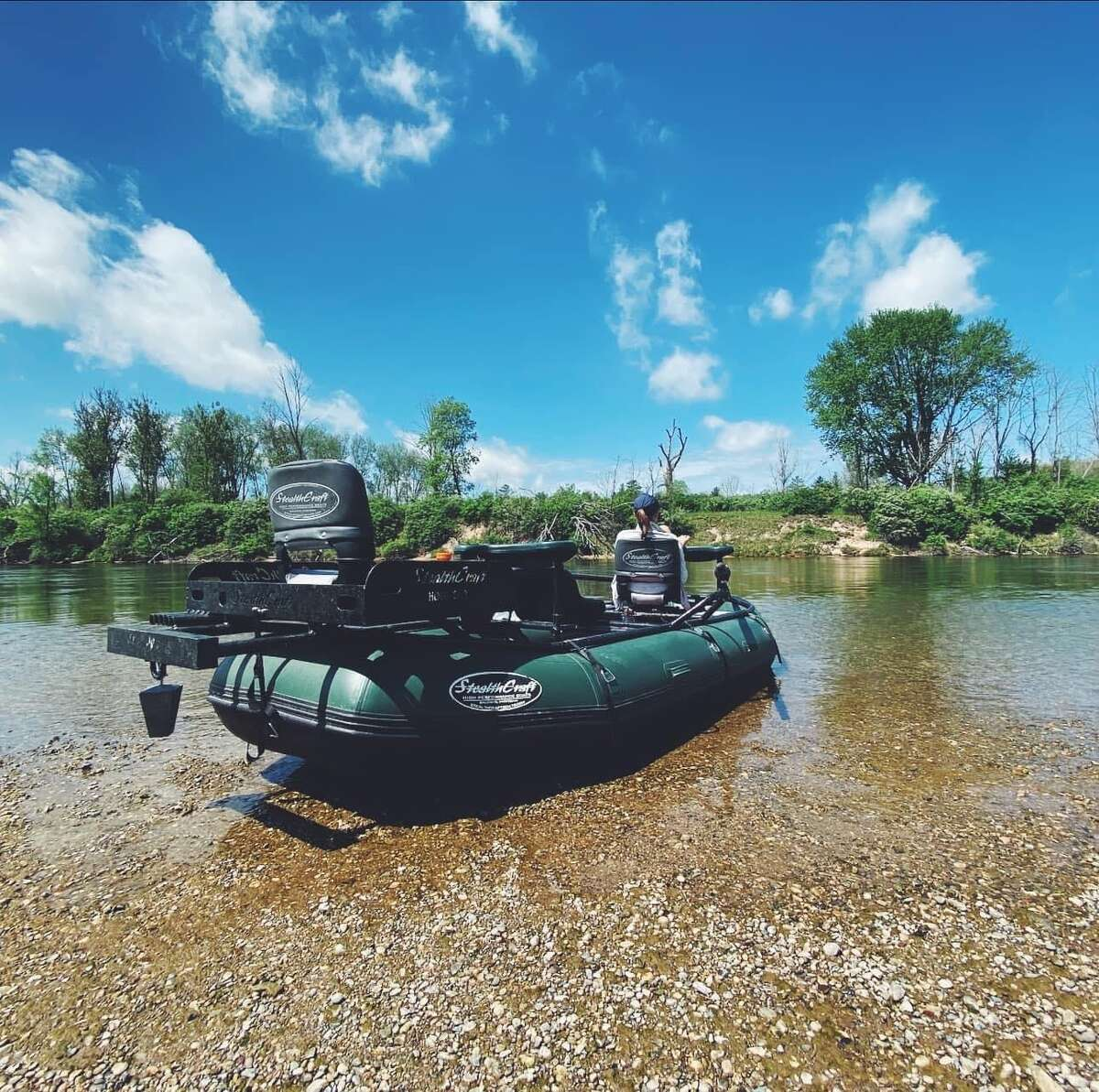 Andy Anderson recently started a new business, Anderson Guide Service, after previously working for Manistee Adventures.