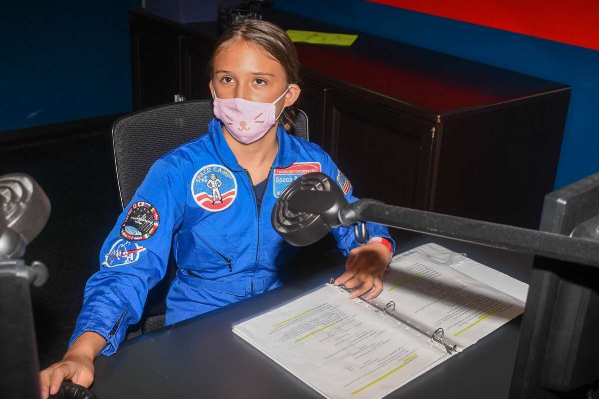 During her time at NASA's Space Camp in July, 10-year-old Addison Johnston got to participate in one exercise as director of Mission Control.