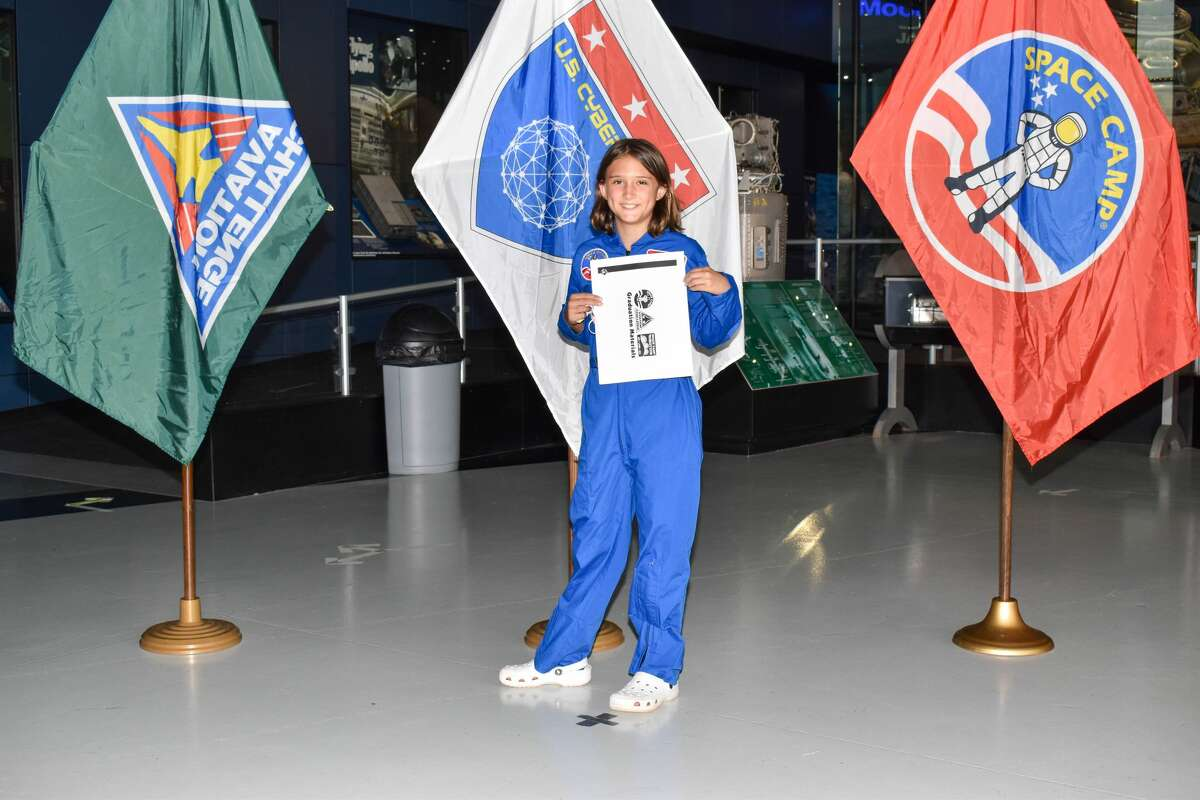 Ten-year-old Addison Johnston spent a week of her summer vacation at Space Camp in July.