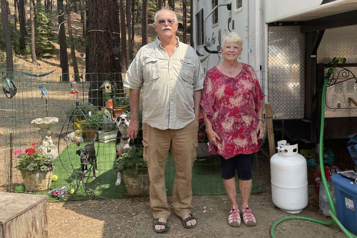 Joan and Dan Carter have lost two homes to wildfires. Most recently, a house they were building in Greenville was leveled by the Dixie Fire.
