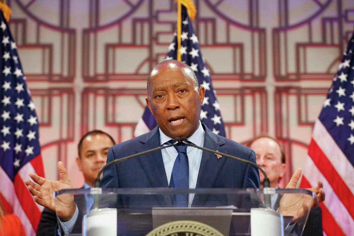 Mayor Sylvester Turner announced the Shell Freedom Over Texas, return with a salute to America's Frontline Heroes Tuesday, June 1, 2021, in Houston.