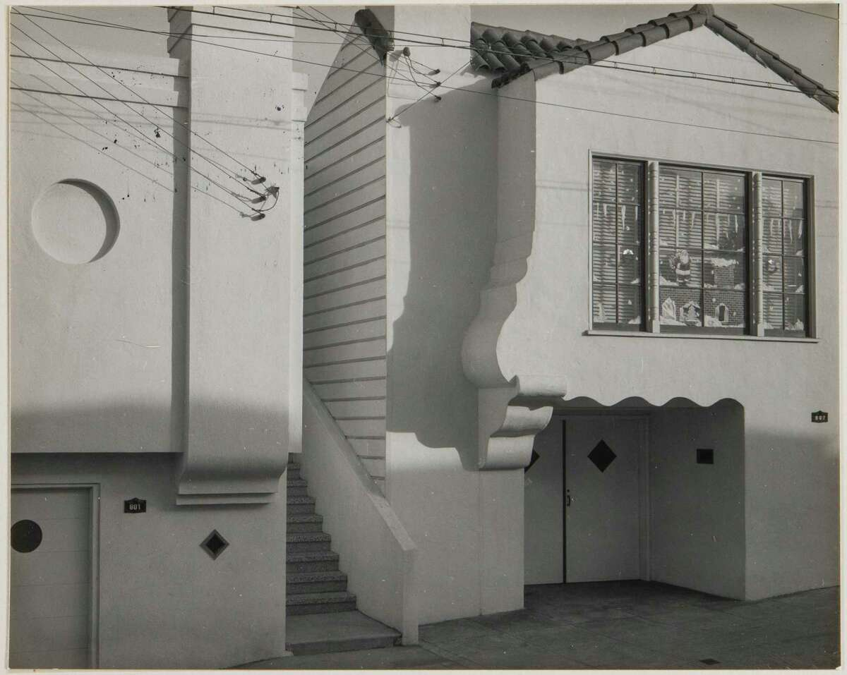 """Minor White moved to San Francisco to teach at what now is San Francisco Art Institute. He also toured the city to take photos like this, """"Moultrie Street and Crescent Avenue, San Francisco, 1950."""""""