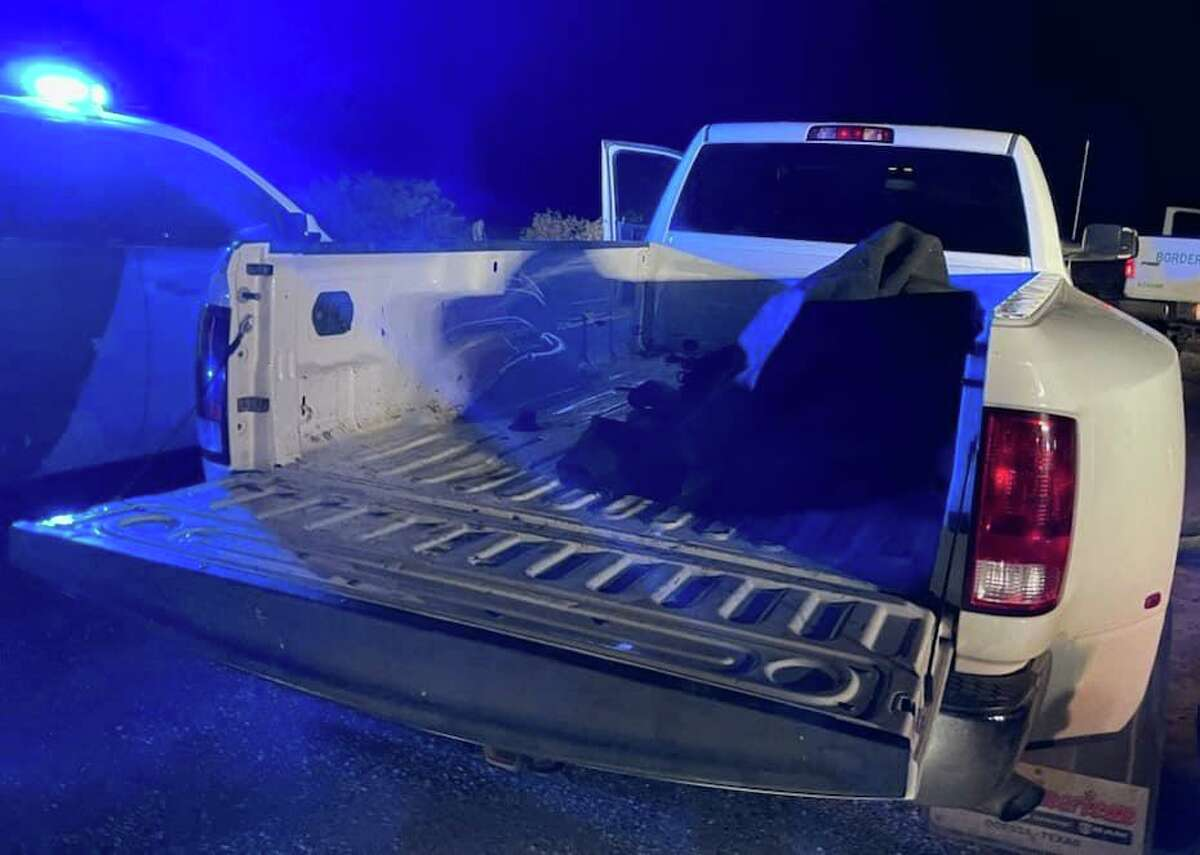 The U.S. Border Patrol announced that a stolen pickup truck and 17 migrants were discovered by Hebbronville agents off Highway 359 recently.