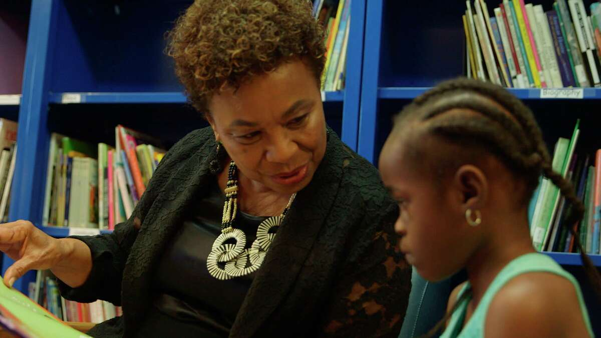 """Rep. Barbara Lee in a still from the documentary """"Barbara Lee: Speaking Truth to Power"""" by Berkeley filmmaker Abby Ginzberg, which premiers Aug. 20."""