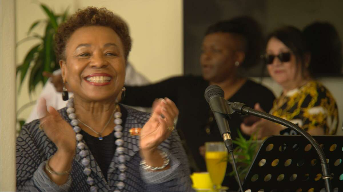 """Rep. Barbara Lee in a still from the documentary """"Barbara Lee: Speaking Truth to Power"""" by Berkeley filmmaker Abby Ginzberg, which premiers Aug. 20, 2021."""
