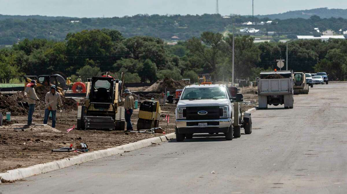 Construction is underway to make the Shoreline Park development - on Ranger Creek Road in Boerne - ready to build homes. City officials are satisfied with what the developer, KB Home, has done to improve the project's stormwater management, but some residents remain concerned about its impact on nearby Boerne Lake.