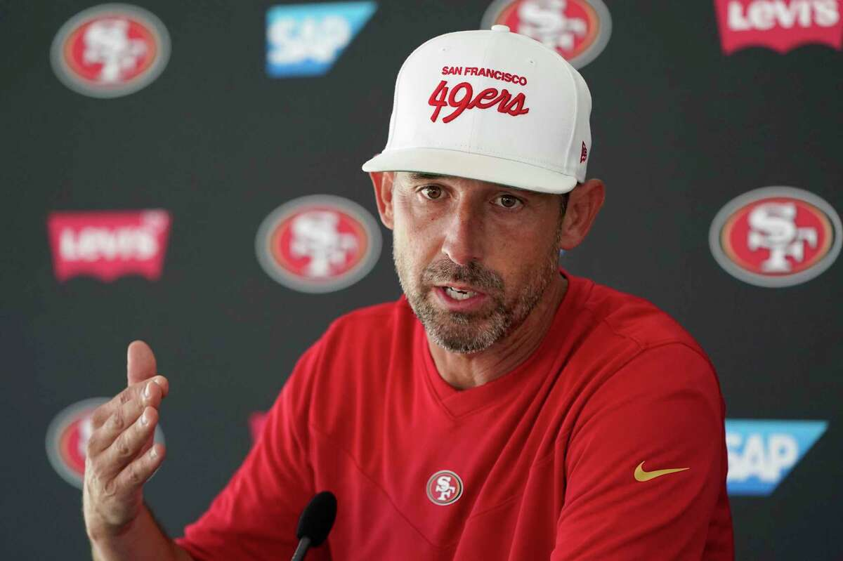 Head coach Kyle Shanahan will lead the 49ers against the Chiefs at Levi's Stadium in the exhibition opener for both teams at 5:30 p.m. Saturday. ( Channel: 5Channel: 13Channel: 46)