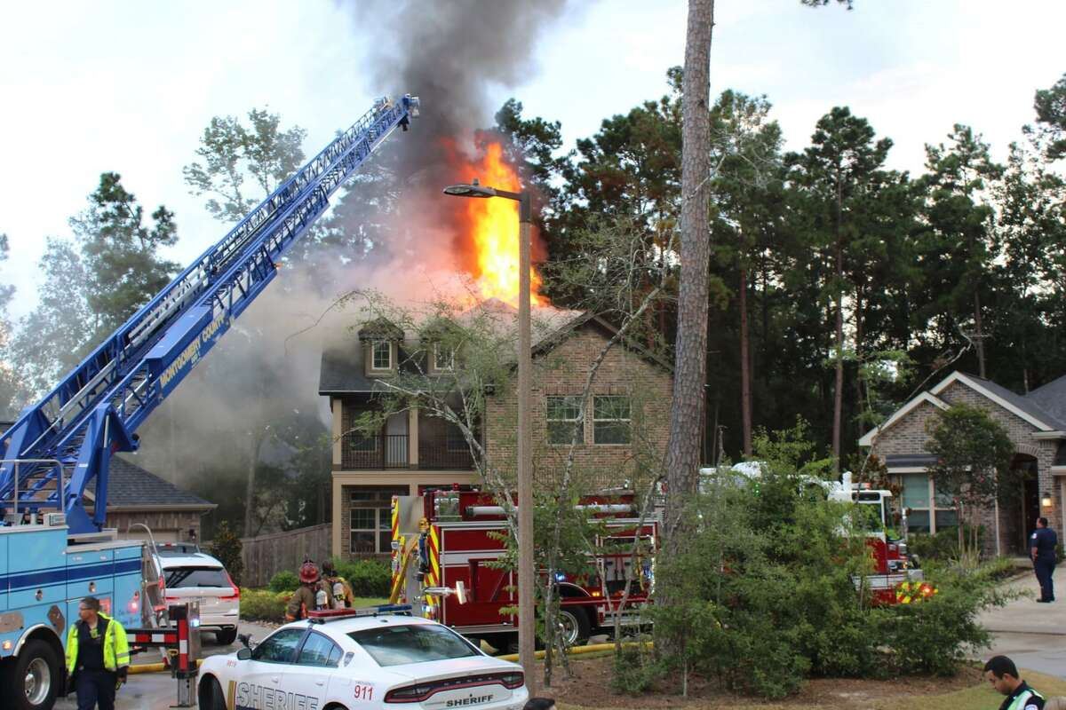 Firefighters with the Conroe Fire Department and the Montgomery County Emergency Services District 1 responded Wednesday to a house fire where lightning has been deemed the culprit.