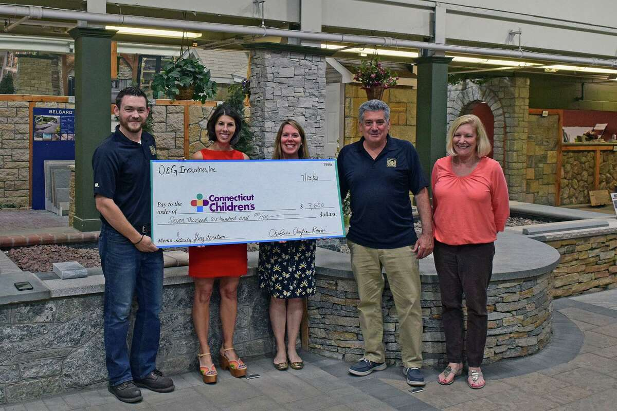 O&G Industries recently made a generous donation to the Connecticut Children's as a part of the company's Spring Giveback program.